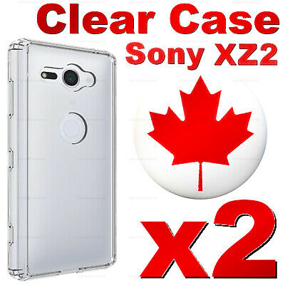 For Sony Xperia XZ2, XZ2 Compact - Superior Clear Soft Transparent Case (2 PACK)