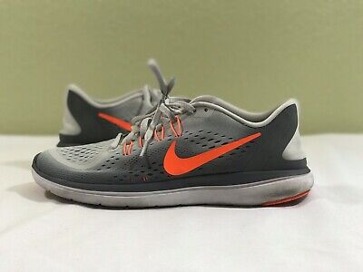 new concept b7a06 f058a ⭐️Nike Flex 2017 RN Sneaker Men s Running Shoes Grey Orange 898457-018 Size  8.5