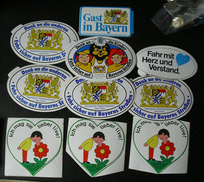 Lot of 10 Vintage Germany Advertising Public Service Window Stickers Look