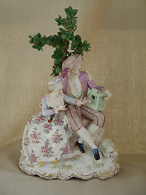 Antique Old Paris French  Porcelain Figure Group  of Lovers