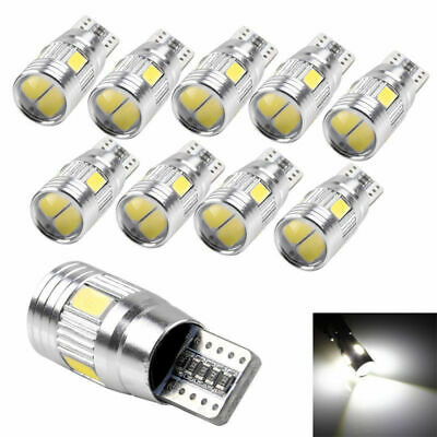 10X Canbus T10 6 SMD 5630 LED Xenon Lampen Innenraum Beleuchtung Standlicht Weiß