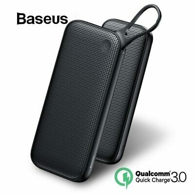 Baseus PowerCore 20000mAh Portable Battery Powerbank 3.0 Dual USB Quick Charge ✅