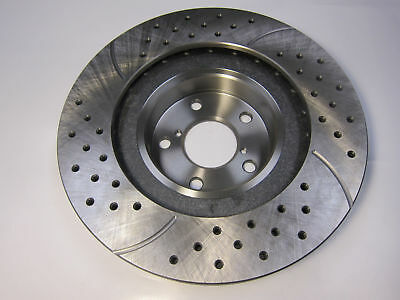 Fits 04-08 Pontiac Grand Prix 580298 Front Drilled Slotted Brake Rotors Pair 2