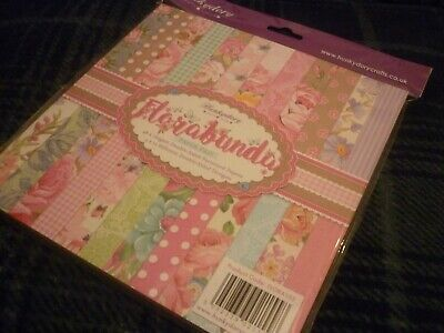 "Hunkydory 8"" X 8"" Double Sided Paper Pad Florabunda 12 Designs 48 Pages Sealed"