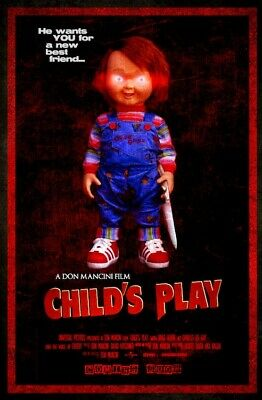 CHILD'S PLAY - CLASSIC MOVIE POSTER - 24 In x 33 In - CHUCKY
