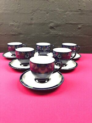 6 x Denby Baroque Tea Cups and Saucers 3 Sets Available