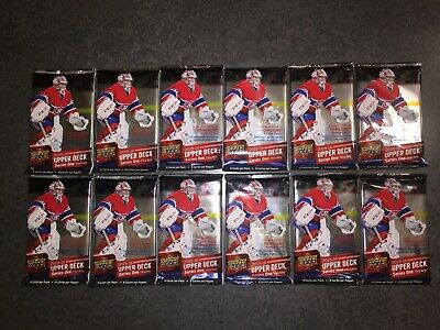 2015-16 Upper Deck Series 1 - Lot Of 12 Sealed Retail Packs W/ Young Guns No Box