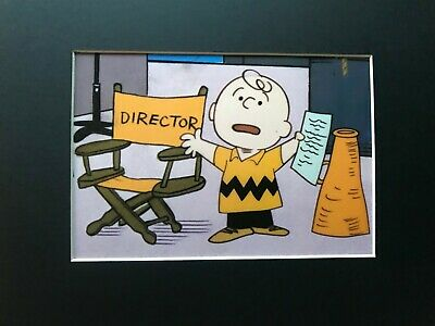 CHARLIE BROWN~CHRISTMAS PLAY DIRECTOR~PEANUTS~8 x 10 Mat Print~MAN IN CHARGE~NEW