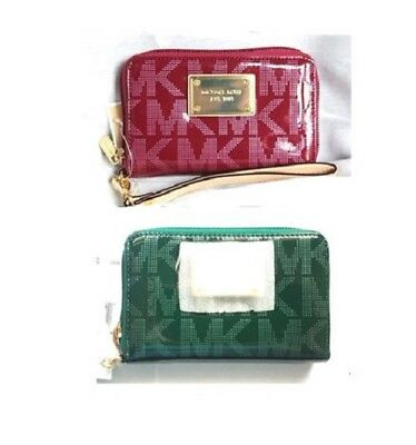9328931ff55f NWT MICHAEL KORS UNIVERSAL CELL PHONE CASE WRISTLET Peony or Emerald ...