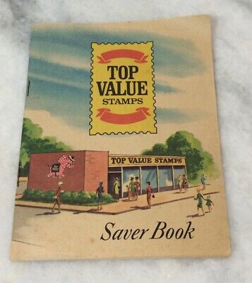 VINTAGE 1960'S STAMP Saver Books Stamps : S&H, Top Value, Stop
