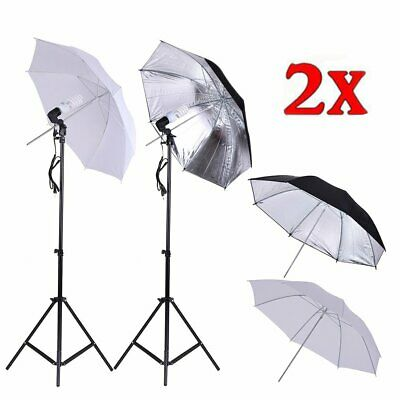 "Adjust 33"" Photography Stand Umbrella Light Kit Photo Video Studio Umbrella EK"