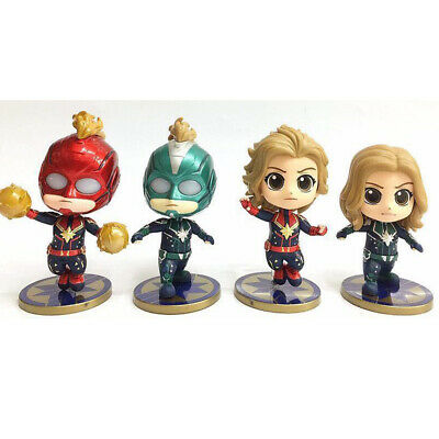 The Avengers Captain Marvel Action Figure Cake Topper Kids Gift Cute Doll Toy US