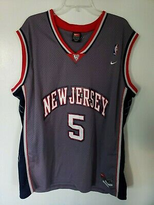 70826f3c352e Vintage Nike New Jersey Nets Jason Kidd 5 Throwback Swingman Jersey Men 2XL  Sewn