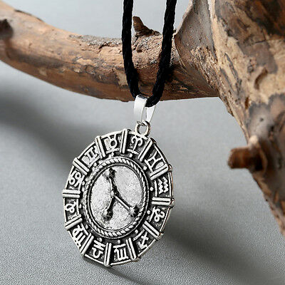 Astrology Zodiac Necklace Horoscope Pendant Amulet Star Sign Unisex Gift Jewelry