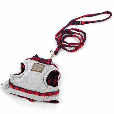 Cat Harness Leash Breathable Vest Cat Collar Vest+Leash Set Pet Jacket Leash C8