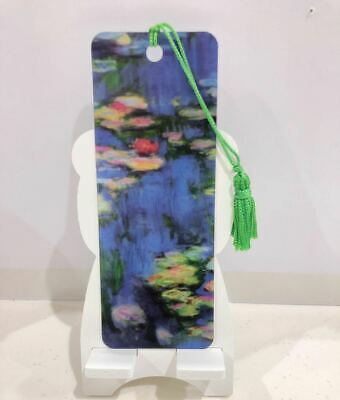 3D Book Marks with Colorful Matching Tassel Made in USA Water Lilies