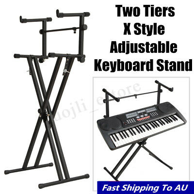 Keyboard Stand Double Braced X Type Height Adjustable Folding Music Piano Holder