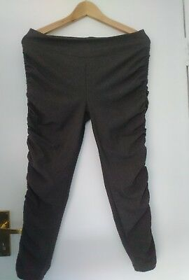 Sweaty Betty Cropped Charcoal Grey Leggings size XS Excell Condition 1137-B7