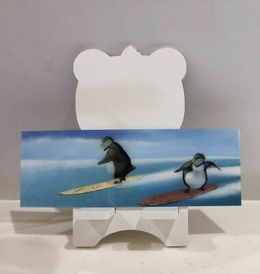 3D Book Marks with Ruler Penguin