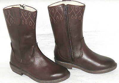 Clarks Boddie Dress Brown Leather girls boots sizes 7.5/25 F RRP £55