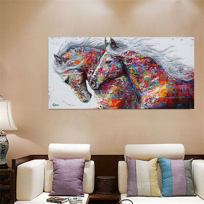 Running Horse Canvas Print Painting Unframed Oil Picture Home Room Art Wall Deco