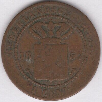 1857 Netherlands East Indies 1 Cent Coin | European Coins | Pennies2Pounds