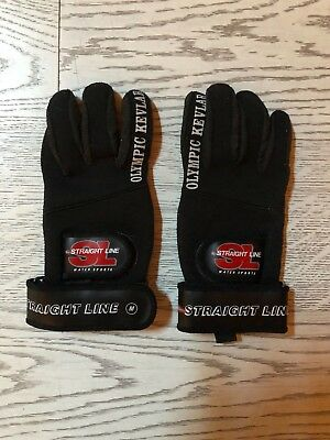Straightline OLYMPIC KEVLAR Glove Black SCI NAUTICO WAKEBOARD SIZE MEDIUM (M)