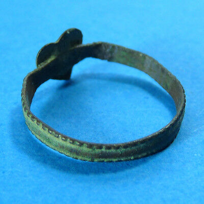 Ancient Medieval Heart Shaped Ring Pirate Times Old Colonial Xvi - Xvii Century