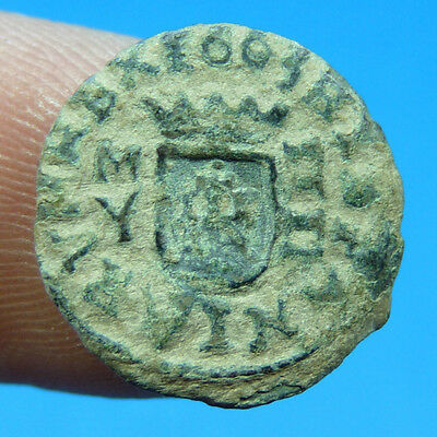 Scarce 1664 Pirate Cob Coin Felipe Iv Spain Colonial Treasure Time Philip Iv