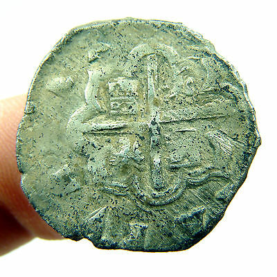 Philip Ii Mexico Silver Pirate Coin Treasure Cobs Spanish Colonial Old Felipe Ii