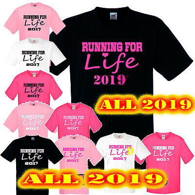 2019 Running Life PERSONALISED Unisex T Shirt race muddy cancer run for charity
