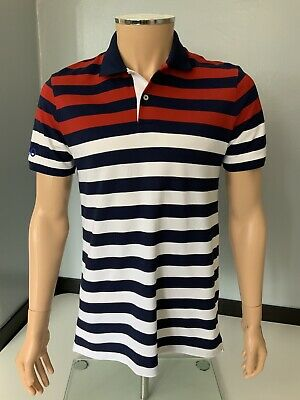 Ralph Lauren Polo Mens T Shirt, Size Pro Fit Medium, Striped, Immaculate