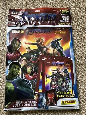 Panini Marvel Avengers EndGame Stickers collection Starter Pack + 22 stickers