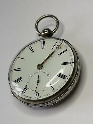 Nice Silver 1851 Fusee Pocket Watch Repair Project - In Good Condition
