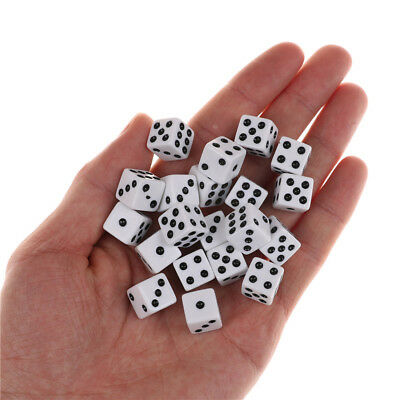 20pcs 12mm Opaque Six Sided Spot Dice Games Supplies D6 RPG Playing Toys  RF