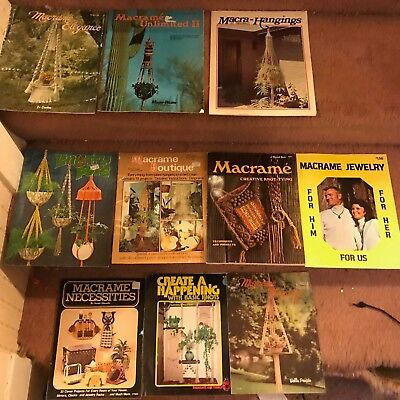 Vintage 1970s Macrame Booklets Elegance Hangings Jewelry Boutique Unlimited Lot