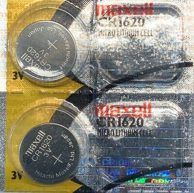 2- CR1620 MAXELL LITHIUM BATTERIES 3V Watch 1620 New Authorized Seller