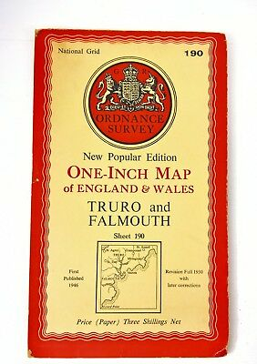 Vintage Ordnance Survey Map 190 1946 Truro And Falmouth