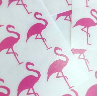 Pink Flamingo Vinyl Wall Stickers X 20