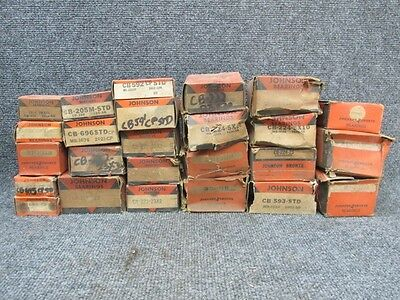 Vintage Johnson Engine Bearings Mixed Lot (25 Bearings)