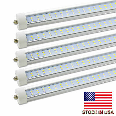 8 Pack JESLED FA8 Single Pin 8FT LED Tube Light Bulb Shop Light 72W 7200LM 6000K