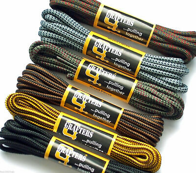 Shoe Laces - Hiking Walking Boot Trainer Lace Strong Heavy Duty Brown Black Grey