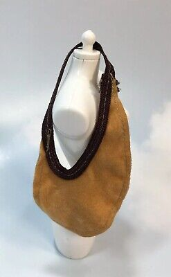 "Barbie Doll Fashion Accessory: Finishing Touches beige ""suede"" hobo bag purse"