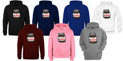 Nutella Printed Slogan Pullover Hoodie Unisex various colour adult and kids size