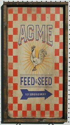 Antique Style Feed and Seed Wood Printed Sign AWESOME!! 12x24