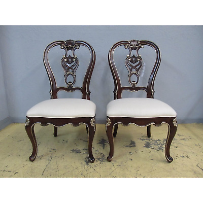 2 Henedon Marseille II Carved Wood Balloon Back Dining Side Chairs Set 5040-28