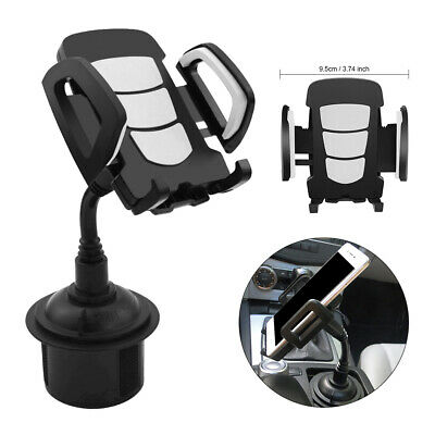 1pc 360° Car SUV Cup Holder Stand Cradle Mount For Cell Phone Iphone Samsung BLK