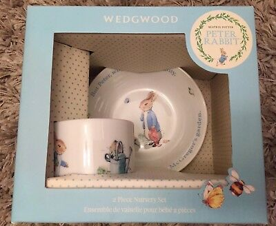 Beatrix Potter Peter Rabbit Wedgwood 2 Piece Nursery Set - BNIB