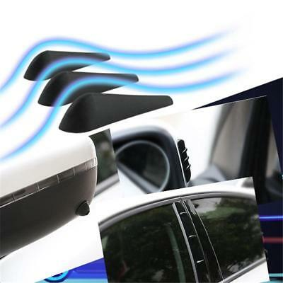 10 In 1 Car Vehicle Wind Noise Reduction PVC Fin Set Pillar Mirror Black MP