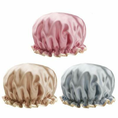 30cm Large Shower Cap Fit All Double-Layer Waterproof Bath Cap (Pack of 3)